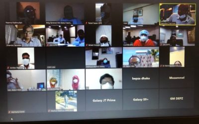 Meeting and zoom conference with BEPZA and  Nilphamari EPZ